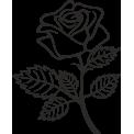 Naklejka jednokolorowa róża