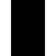 Naklejka jednokolorowa   kościotrup