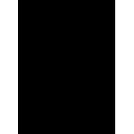 Naklejka jednokolorowa   kościotrup z pistoletem