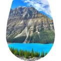 Deska sedesowa - góry, morze, widok