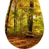 Naklejka Deska sedesowa - las, drzewa, liście