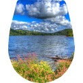 Naklejka Deska sedesowa - morze, chmury, polana