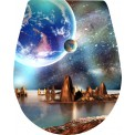 Naklejka Deska sedesowa - kosmos, niebo