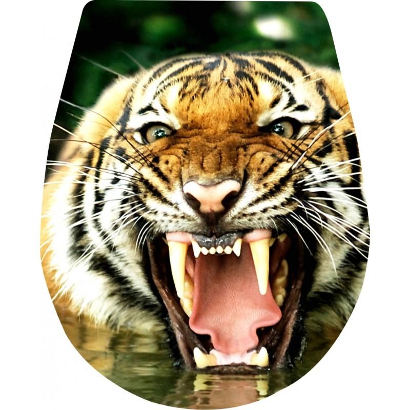 Naklejka Deska Sedesowa Tygrys Kły