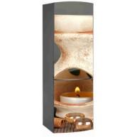 Naklejka na lodówkę - pomarańczowa świeczka