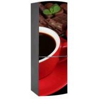 Naklejka na lodówkę - kawa w czerwonej filiżance