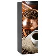 Naklejka na lodówkę - kawa z ziarnami