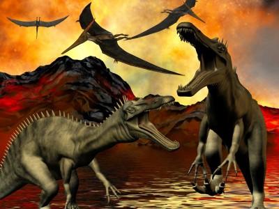 Dinozaury zwierzęta skały natura