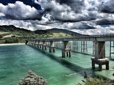 Krajobraz most rzeka góry natura widoki