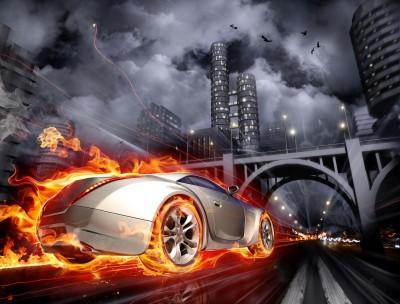 Auto pod mostem