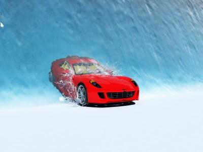 Samochód we wodzie
