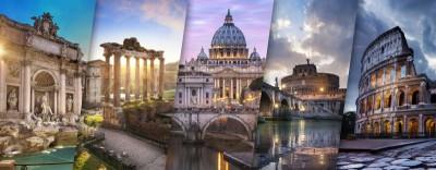 Zabytki różne Koloseum Panteon fontanna