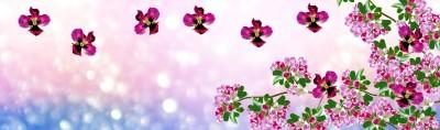 Lecące kwiaty