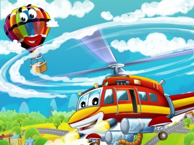 Helikopter z balonem