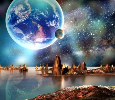 kosmos, planeta, galaktyka