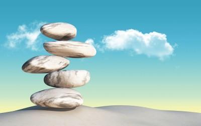 kamienie, chmury