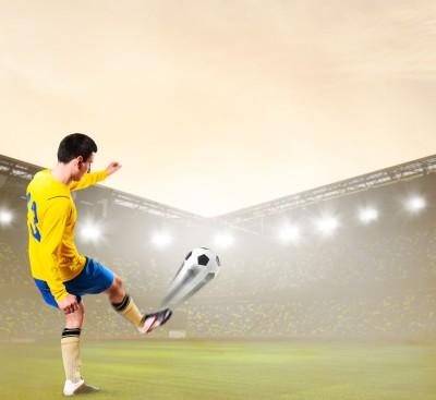 piłkarz, boisko, murawa