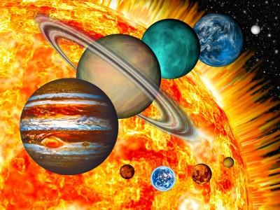 Układ planetarny planeta tapeta kosmos