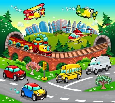 samochody, miasteczko