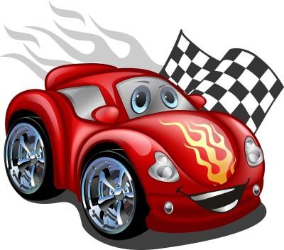samochód wyścigowy, flaga