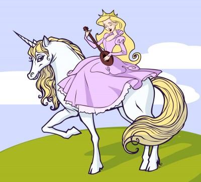 księżniczka na jednorożcu