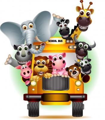 autobus, zwierzęta, Afryka