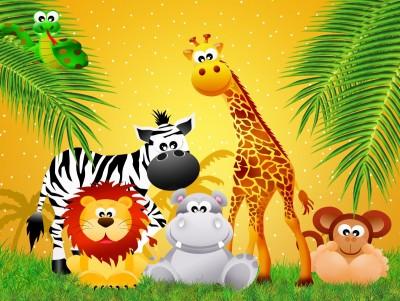 żyrafa, lew, Afryka