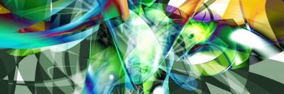 Abstrakcja kolorowa 3d  pasy space