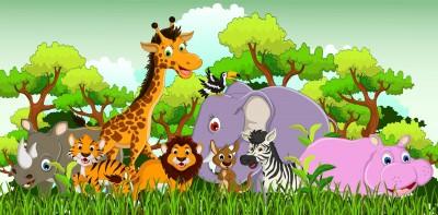 Zwierzęta afrykańskie - dzieci Zoo Safari