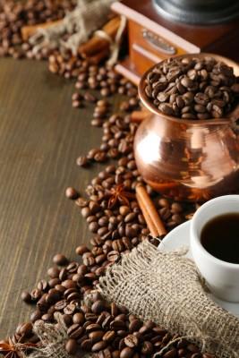 kawa, filiżanka, cynamon