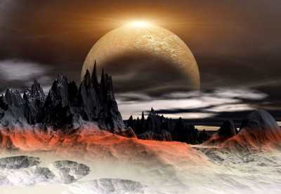 Mroczna kraina księżycowa miasto przyszłości
