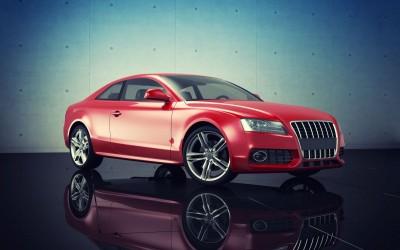 samochód, czerwień