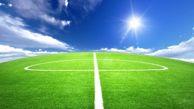 boisko, trawa, słońce