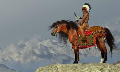 Indianin, koń