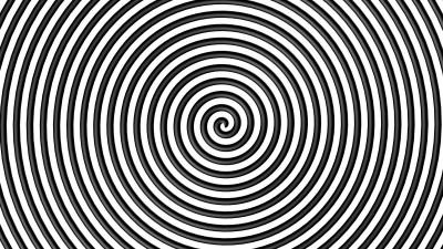 Abstrakcja iluzja fale koła