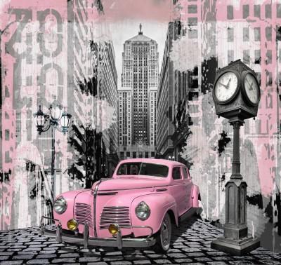 różowy samochodzik