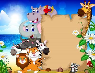 Zwierzęta ,pergamin