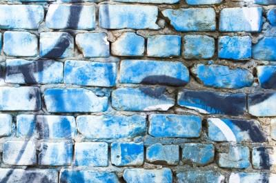 Graffiti niebieskie