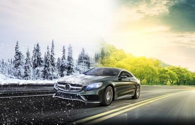 samochód, lato, zima