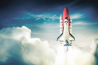 rakieta, chmury