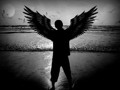 Mężczyzna Anioł Wf1585 Ludzie Plakaty Obrazy