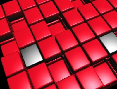 kształty , czerwone 01