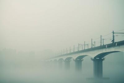 most, mgła
