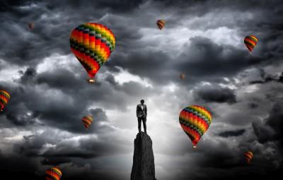 balony, kolory