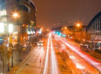 ulica, miasto, światła