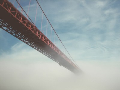 most, mgła, liny