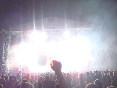 scena, koncert, światła