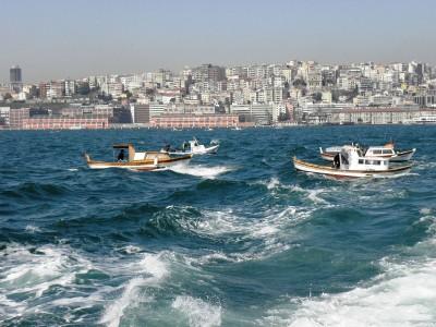 statki, morze miasto
