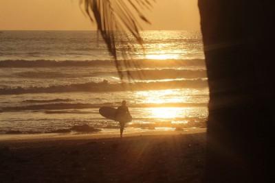morze, surfer