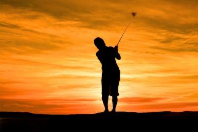 mężczyzna , golf, sport